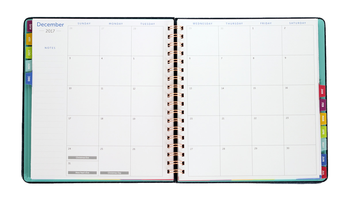 Time Amp Todo Planner 2017 2018 Academic Calendar Time