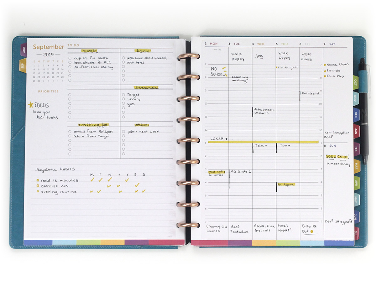 image about Discbound Planner Printables titled 2019-20 Educational Calendar Planner Web pages: Letter Discbound