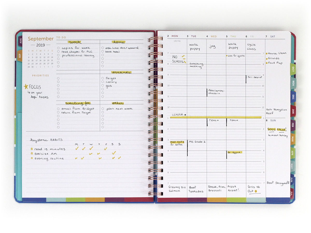 Unforgettable image inside time and to do planner